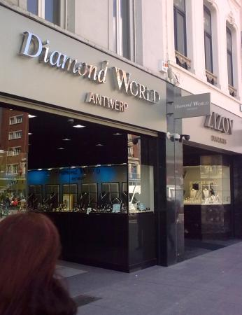 Blue diamonds for sale Picture of Diamond District Antwerp