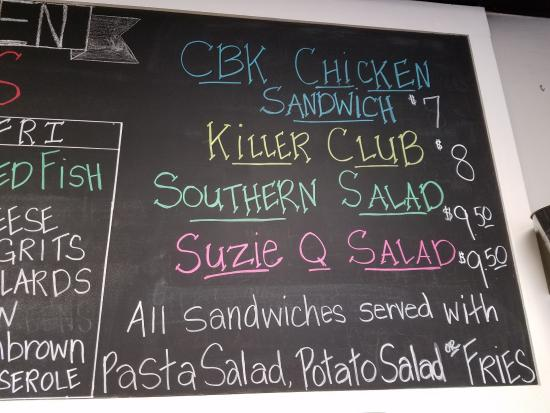 Great Sandwiches And Salads Picture Of Chalkboard Kitchen