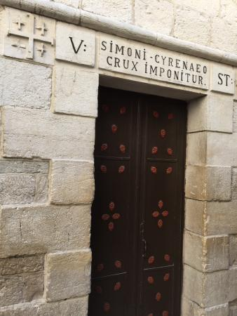 The 1st Station On The Via Dolorosa Path Of Sorrow Where Tradition Says The Crown Of Thorns