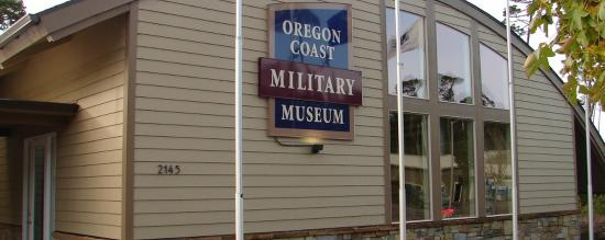 Florence, OR: Oregon Coast Military Museum address and sign