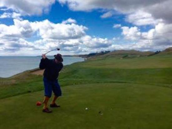 Kohler, WI: On the front nine at Whistling Straights, into the wind!