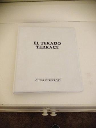 El Terado Terrace: Guest Directory.