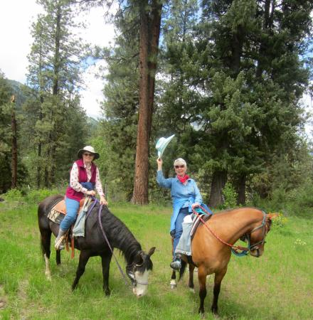 Garden Valley, ไอดาโฮ: Yehah! What a day! Great, gentle horses, super guide, pine & floral scented breezes.