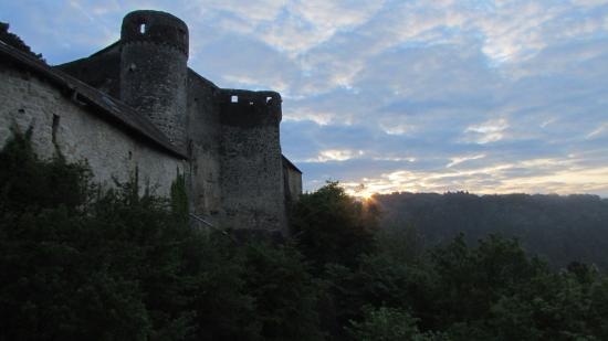 Sunrise and view of the Vieux Chateau