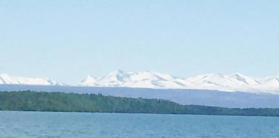 Kasilof, AK: Tustumena Lake mountains and glaciers