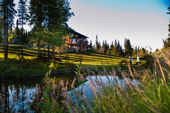 Kasilof, AK: Our lodge from Creek side
