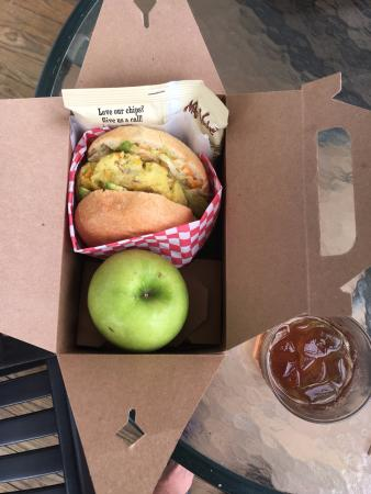 Gorham's Bluff: A box lunch made by Chef Rene