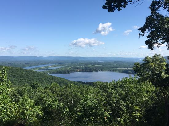 Gorham's Bluff: The view from the Lodge, the Tennessee River