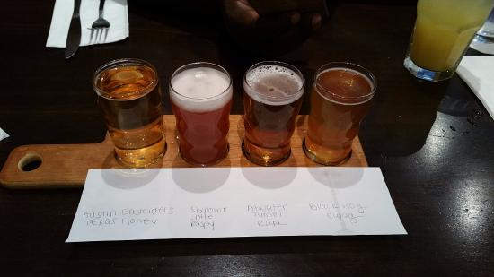 Orange, CT: 4 beer flight