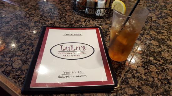 Lulu's Pizzeria and Family Restaurant: Menu