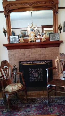 Stevens Crawford Museum: Vintage Chairs Flank The Fireplace.