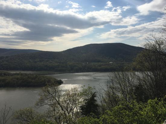 View from an overlook at Bear Mountain.