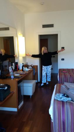 Our new digs at Hotel Londra in Firenze, Italia