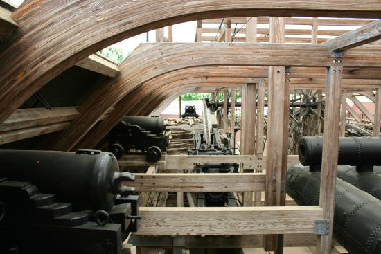 Inside the Ironclad. Cannons, Boiler, and Paddle Wheel. - Picture of ...