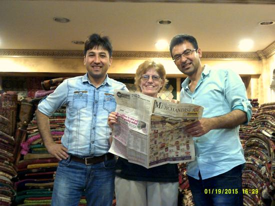 "Heritage Nomadic Art Gallery: ""Reading"" a weekly newspaper with Ugur & Hassan in their gallery"