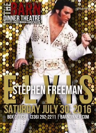 Greensboro, NC: Stephen Freeman: Elvis Tribute 2016