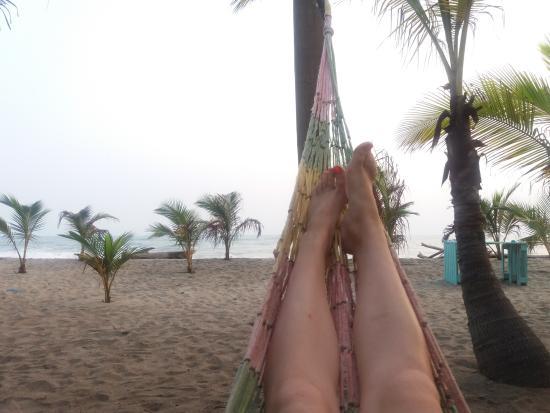 Département de Magdalena, Colombie : descansando en las hamacas de la playa