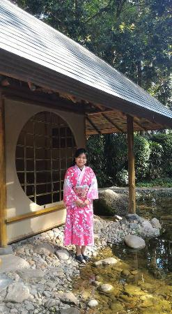Bentong, Malasia: Japanese house near the small pool