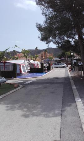 Camping Raco: just of one road.