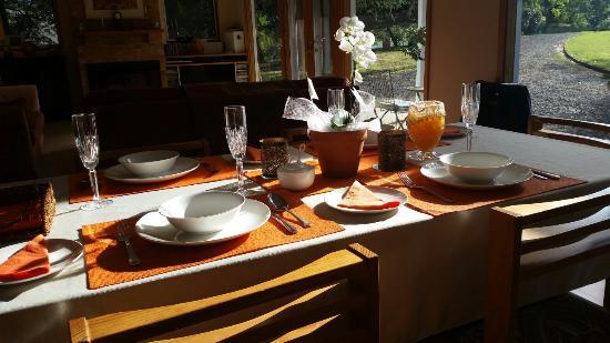 Berrys Creek, Австралия: Breakfast in Autumn.  Beautiful