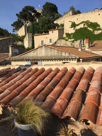 Boulbon, ฝรั่งเศส: Vue de la terrasse à l'atage