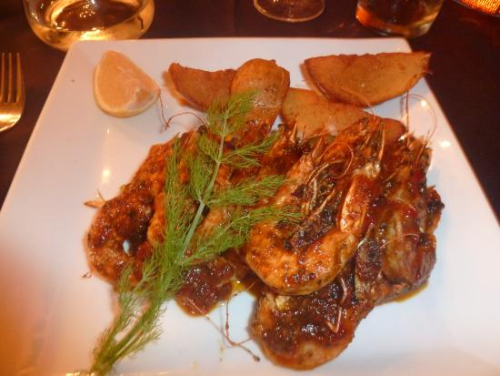 Wilderness, Sudáfrica: Delicious prawns