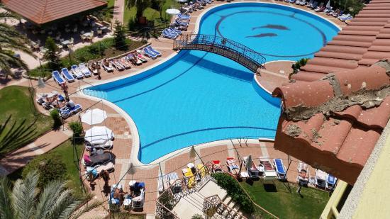 Zwembad Op Balkon : Deel zwembad vanaf balkon Изображение nova park hotel Сиде