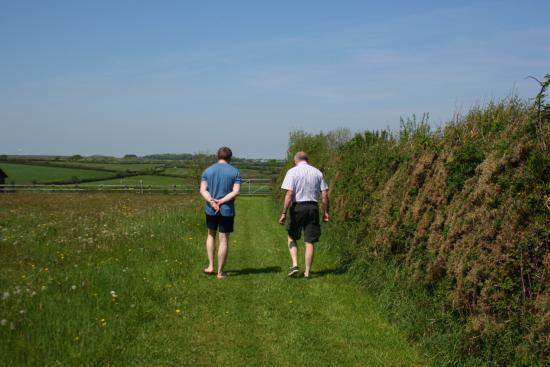 Bradworthy, UK: walking round the fields outside the lodges
