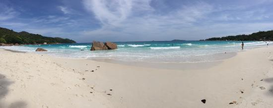 Praslin, Seychellerna: Anse Lazio, April 2016