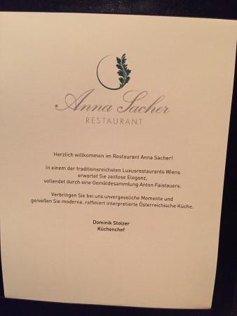 """das ist die """"einladung"""" - picture of restaurant anna sacher, Einladungen"""