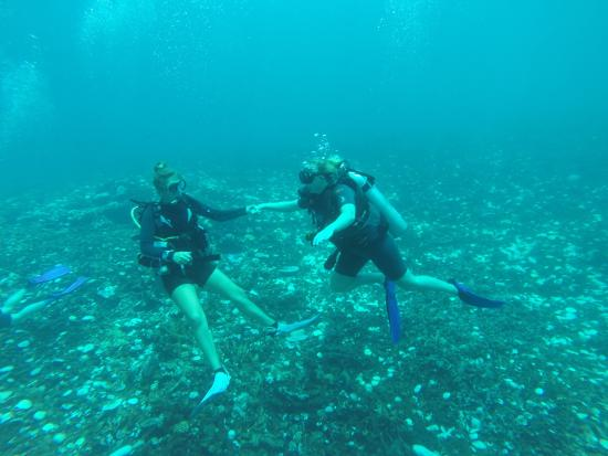 Gili Trawangan, Indonesia: Instructor Laura being supportive
