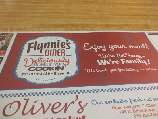 Flynnies Diner: Fun advertising placemats!