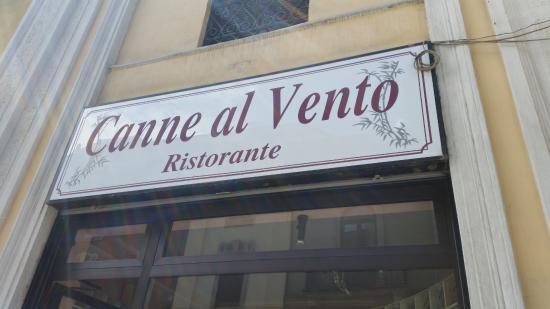 Canne al Vento: 入口の看板