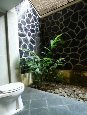 badkamer met ligbad/ toilettafel / WC alles buiten - Picture of ...