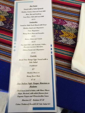 Lemon Tree Cafe & Bistro: Daily menu at the Lemon Tree