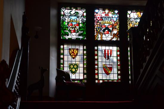 Stained glass on the landing