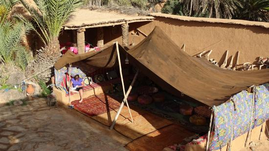 berber tent where food can be served picture of nomades maison d