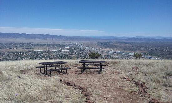 View East from Glassford Hill Trail end at Prescott Valley Overlook