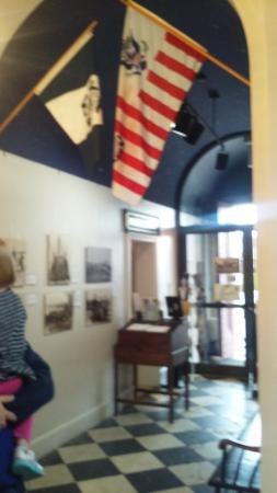 Newburyport, MA: A regal welcome. The foyer showcases damage done to the floor when sub engines were broken apart