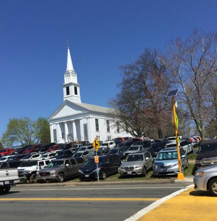 Parking in Brimfield at the Congregational Church