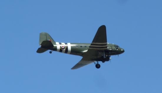Coningsby, UK: Dakota in flight