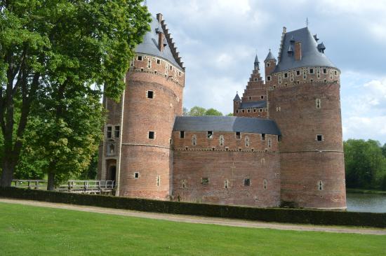 Flemish Brabant Province, เบลเยียม: facciata del castello