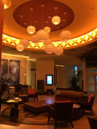 Lobby of the Hilton Garden Inn Virginia Beach Oceanfront