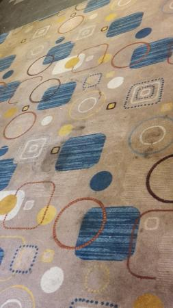 Portage, Indiana: (old) stains in the carpet of the breakfast room