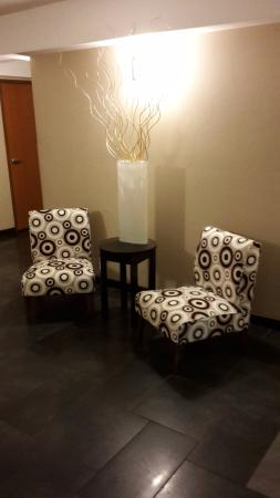 Portage, Indiana: chairs opposite the elevator