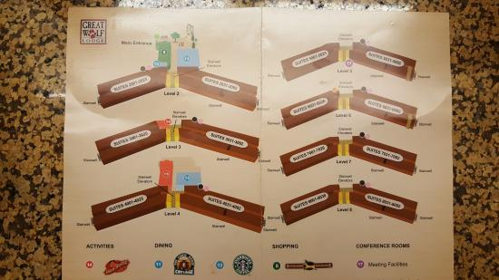 Map Of 2nd Through 8 Floors Picture Of Great Wolf Lodge