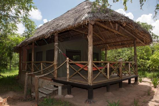 Angalia Tented Camp: Mi cabaña. Rodeada de naturaleza pero sin bichos, fresca, cómoda y a 100 metros del lodge centra