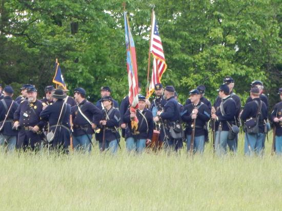New Market State Historical Park: The 54th PVI Reenactors Read For Battle