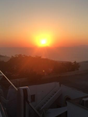 Amazing service, amazing sunset!