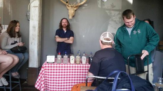 Three Oaks, MI: tasting of Journeyman Tony our Tour guide